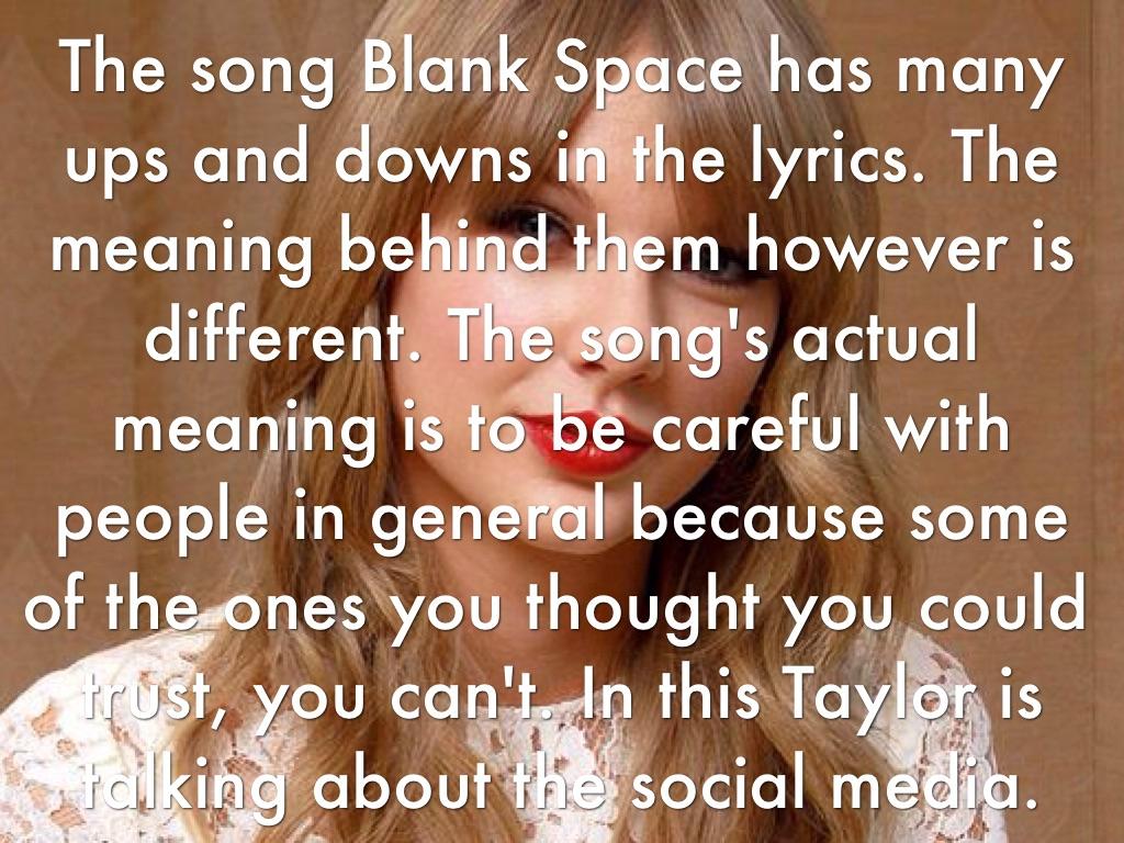 Blank Space by Jamie K
