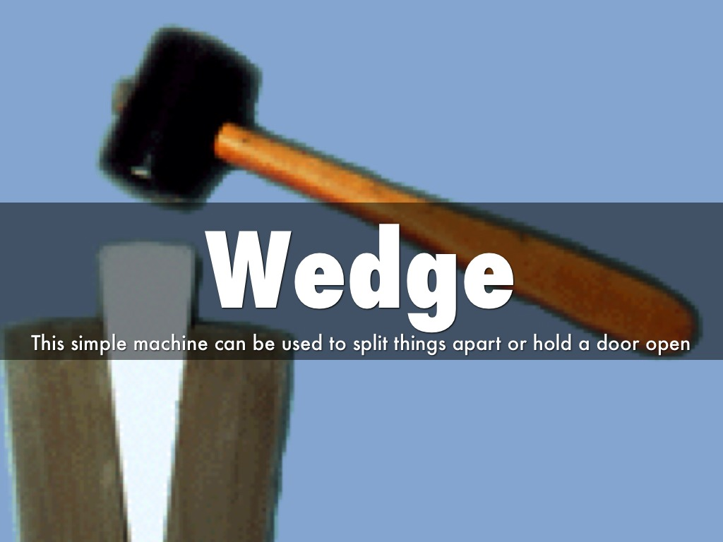 exles of a wedge simple machine