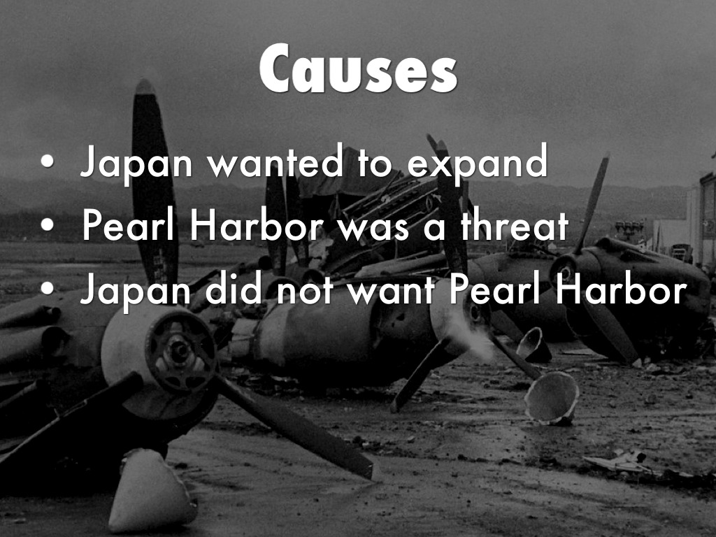 the causes of the bombing of pearl harbor Ask him why the japanese attacked pearl harbor, and he will probably  warfare  had to do with provoking the japanese to mount their attack,.