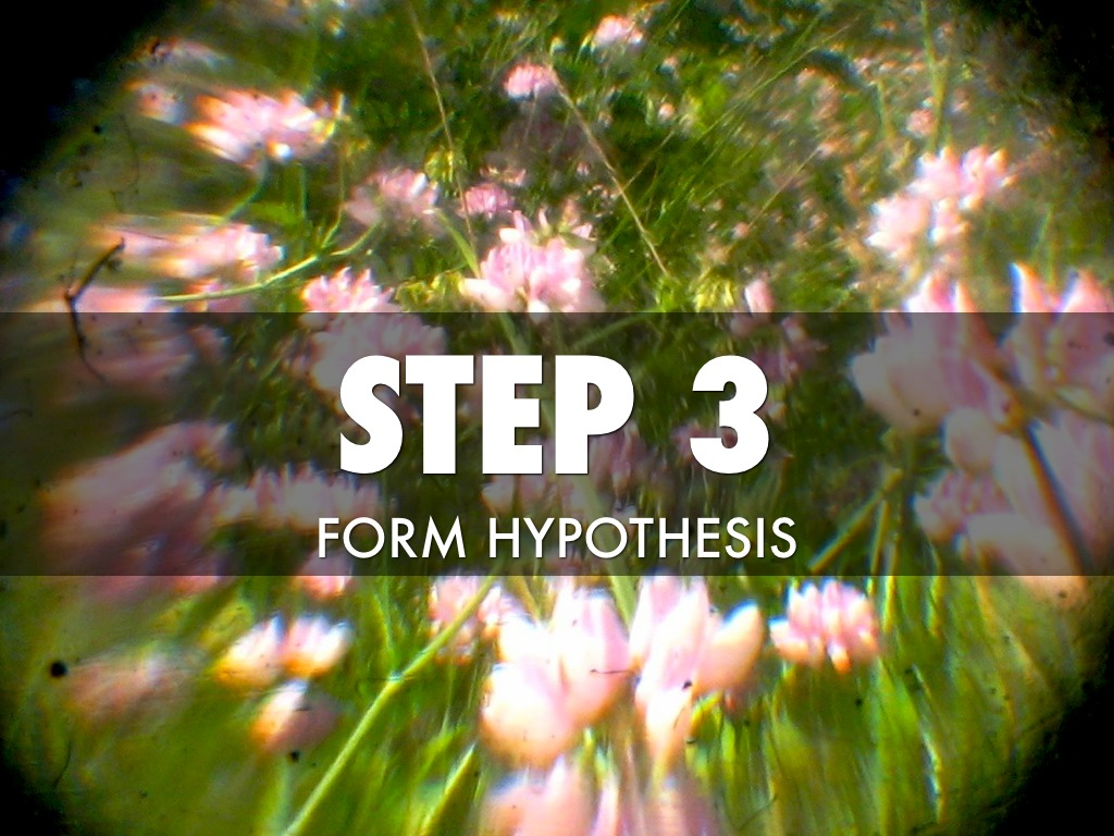 form hypothesis Hypothesis, something supposed or taken for granted, with the object of following out its consequences (greek hypothesis, a putting under, the latin equivalent being suppositio) in planning a course of action, one may consider various alternatives , working out each in detail.