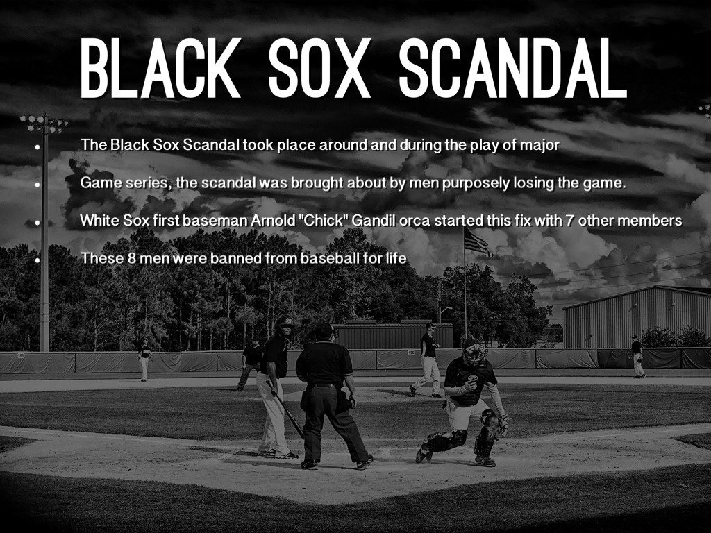 black sox scandal and its effect