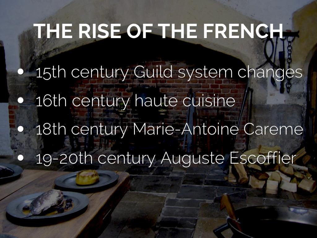 haute cuisine and antonin careme essay