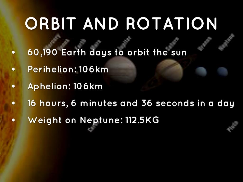 Neptune Orbit And Rotation