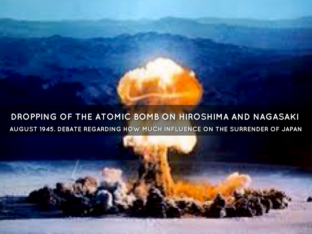 an argument of americans dropping the atomic bomb on hiroshima and nagasaki
