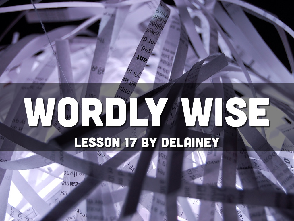 wordly wise book 5 lesson 17 pdf