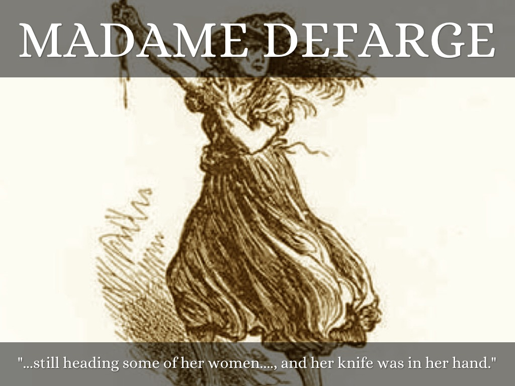 defarge madame paper term Everything you ever wanted to know about madame defarge in a tale of two cities, written by masters of this stuff just for you.