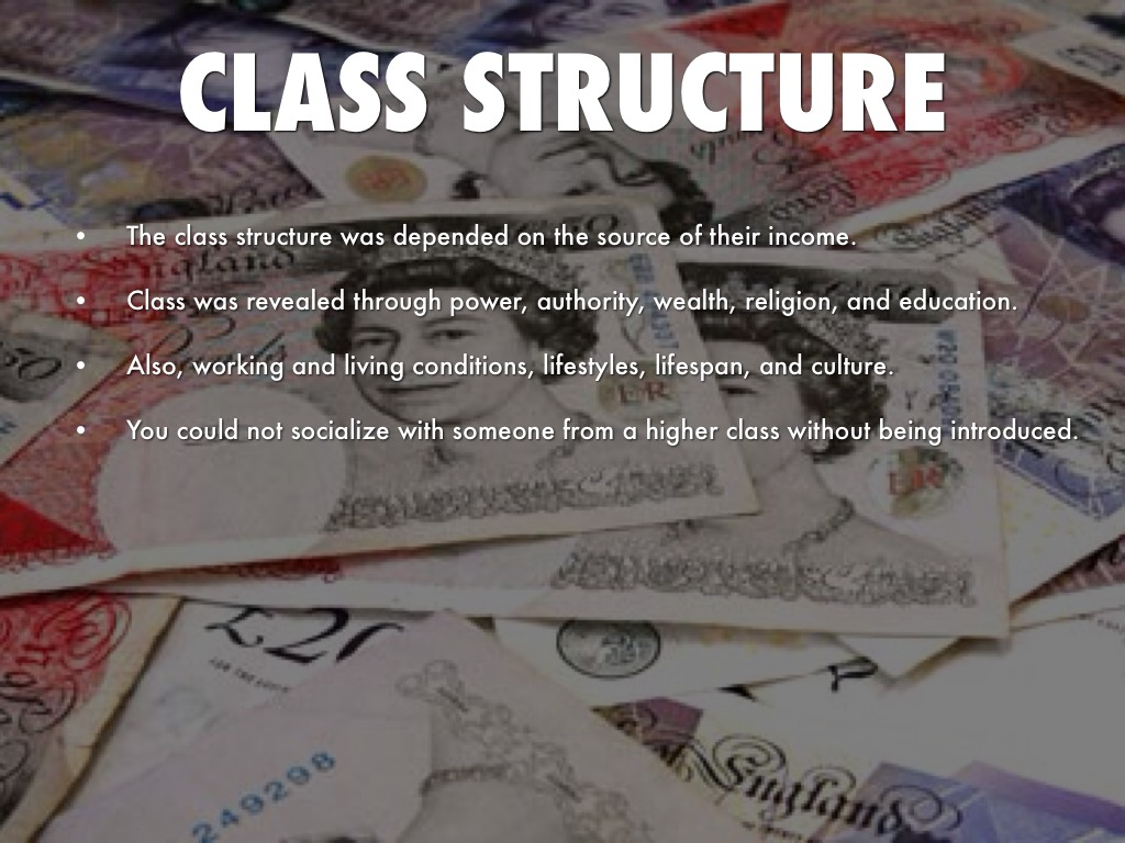 the class system of the victorian era The status of women in the victorian era was often seen as an illustration of the  a system of routine annual  middle class women in the victorian household .