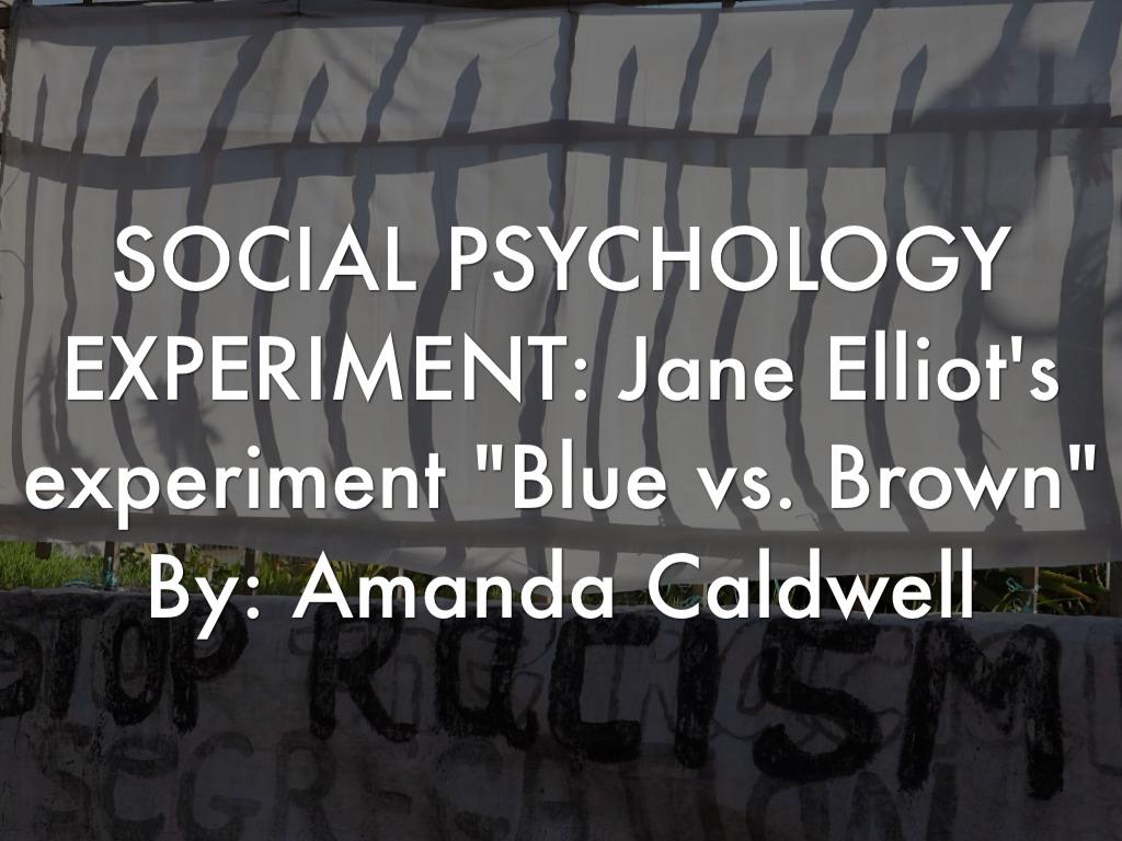 """jane elliots experiment I serien socialvetenskapliga klassiker tar bengt starrin upp den amerikanska pedagogen jane elliots experiment """"brown eyes – blue eyes"""" experimentet visar att en detalj, som ögonfärg, kan vara det som ger upphov till diskriminering om man lägger till värderingar som förmedlas med auktoritet och makt."""