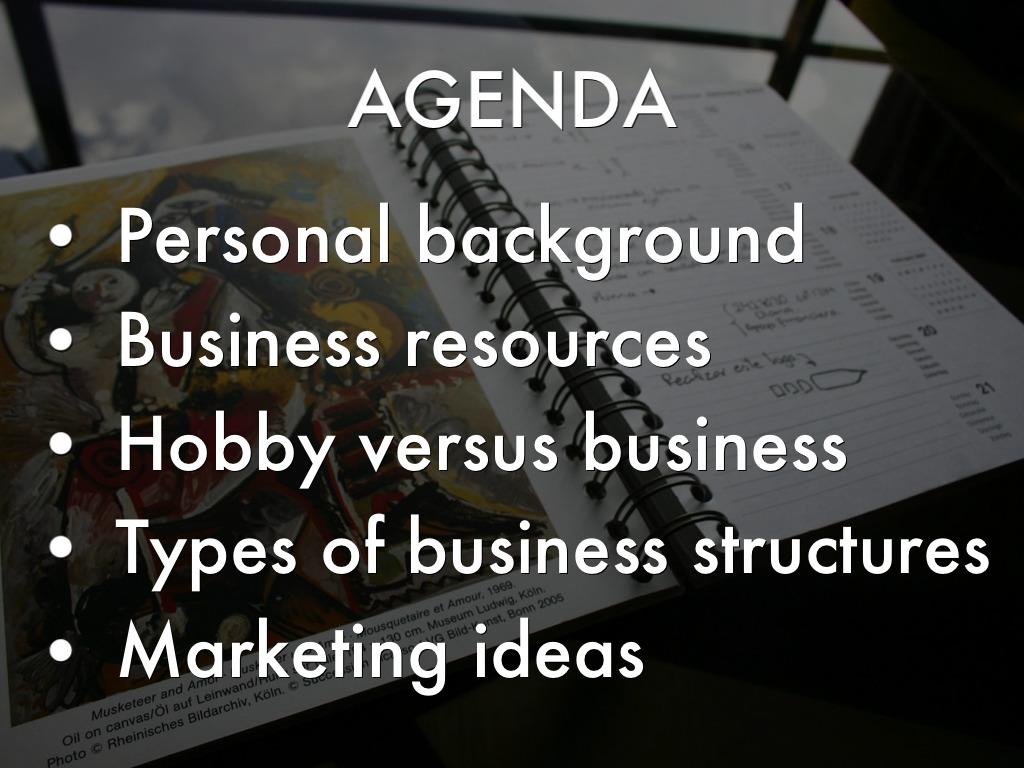 hobby presentation ideas