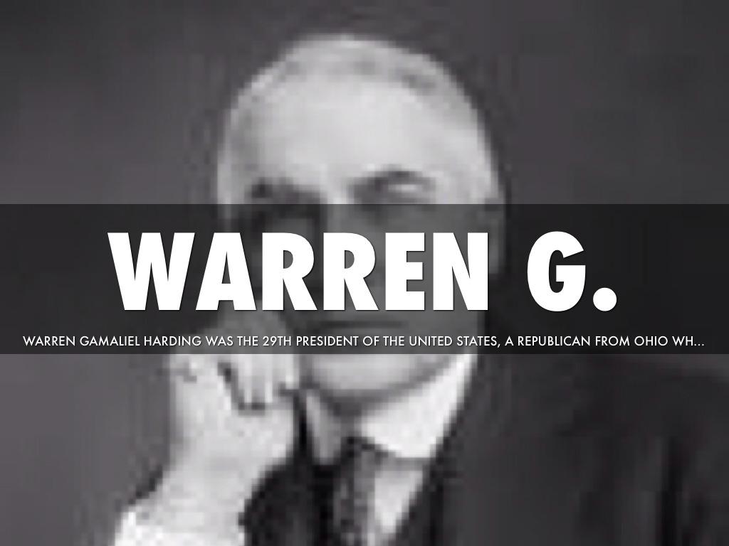 warren gamaliel harding 29th president of