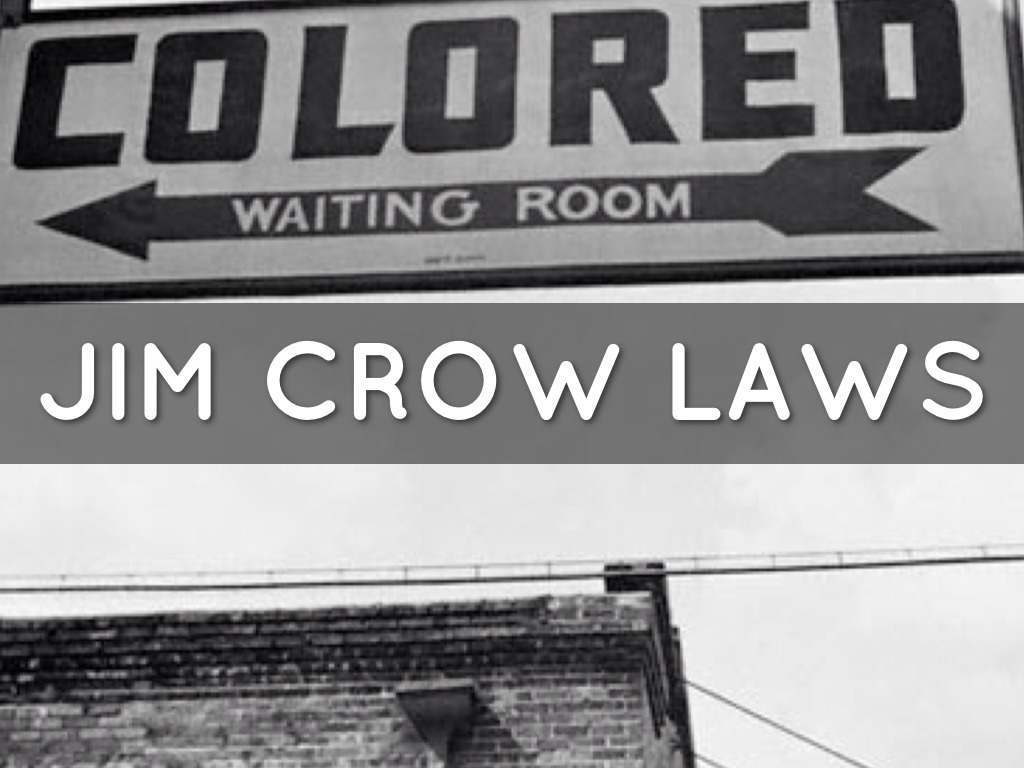 Jim Crow Laws Signs