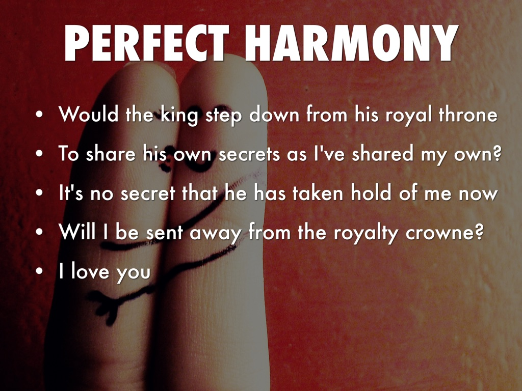 perfect harmony essay