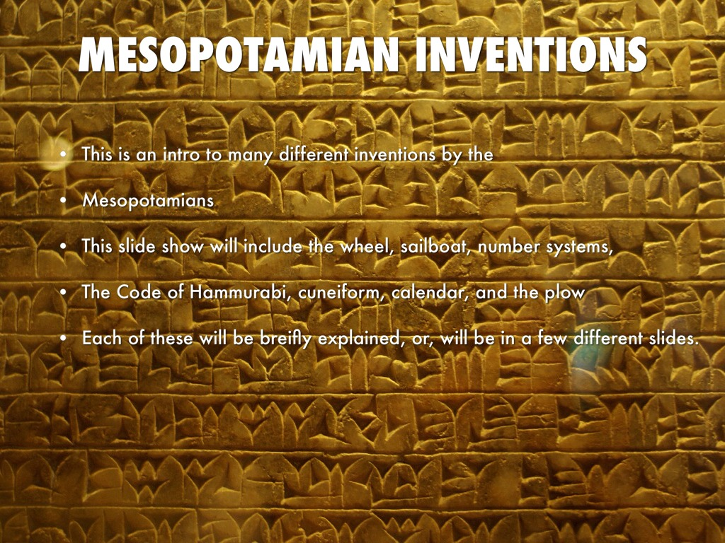Mesopotamian Inventions by painter9000