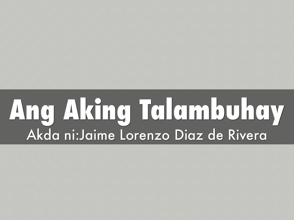 ang aking talambuhay Contextual translation of ang aking talambuhay tagalog version into english  human translations with examples: my biography, what the heck.