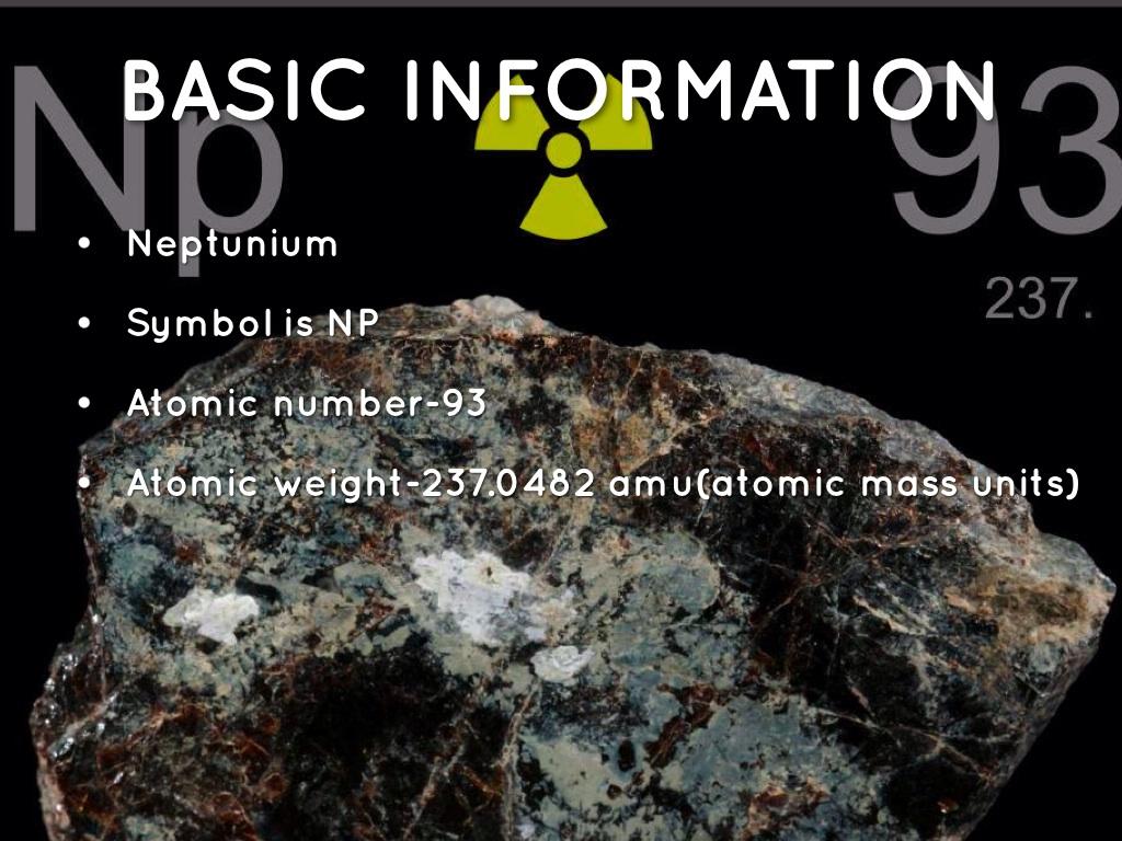 atomic number of neptunium