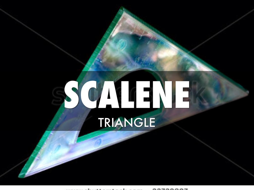 Scalene Triangle Outline Angles by Alina...