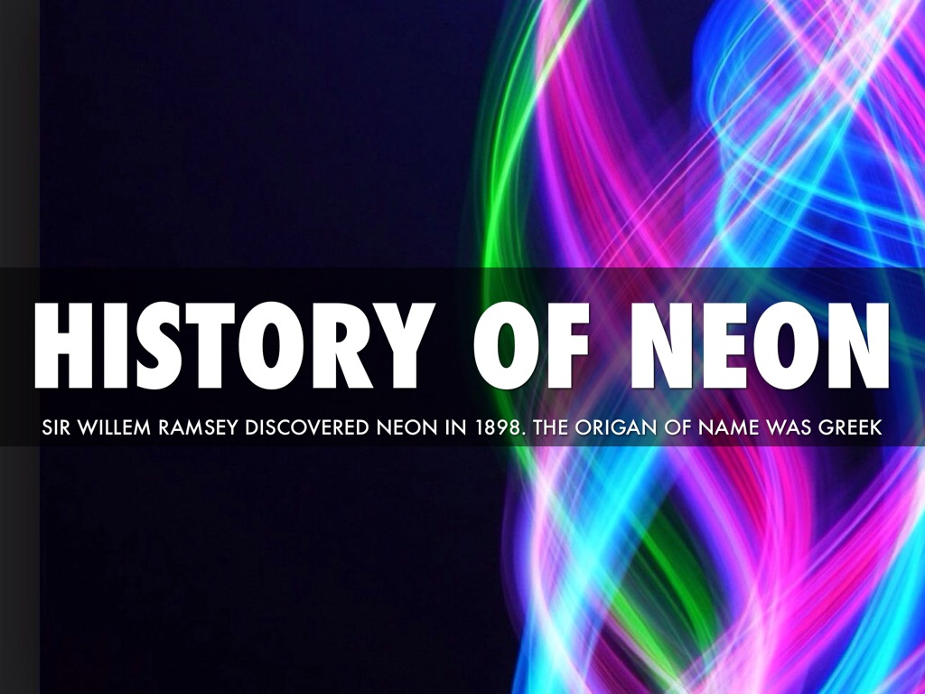 the discovery of neon in 1898 and its properties This webelements periodic table page contains historical information for the element neon  neon properties  in 1898 very shortly after their discovery of.