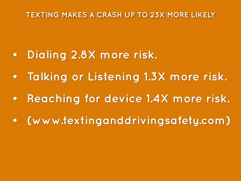texting while driving 8 essay