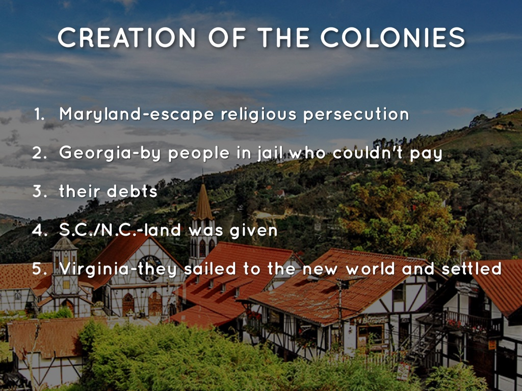 The Southern Colonies by jjharris