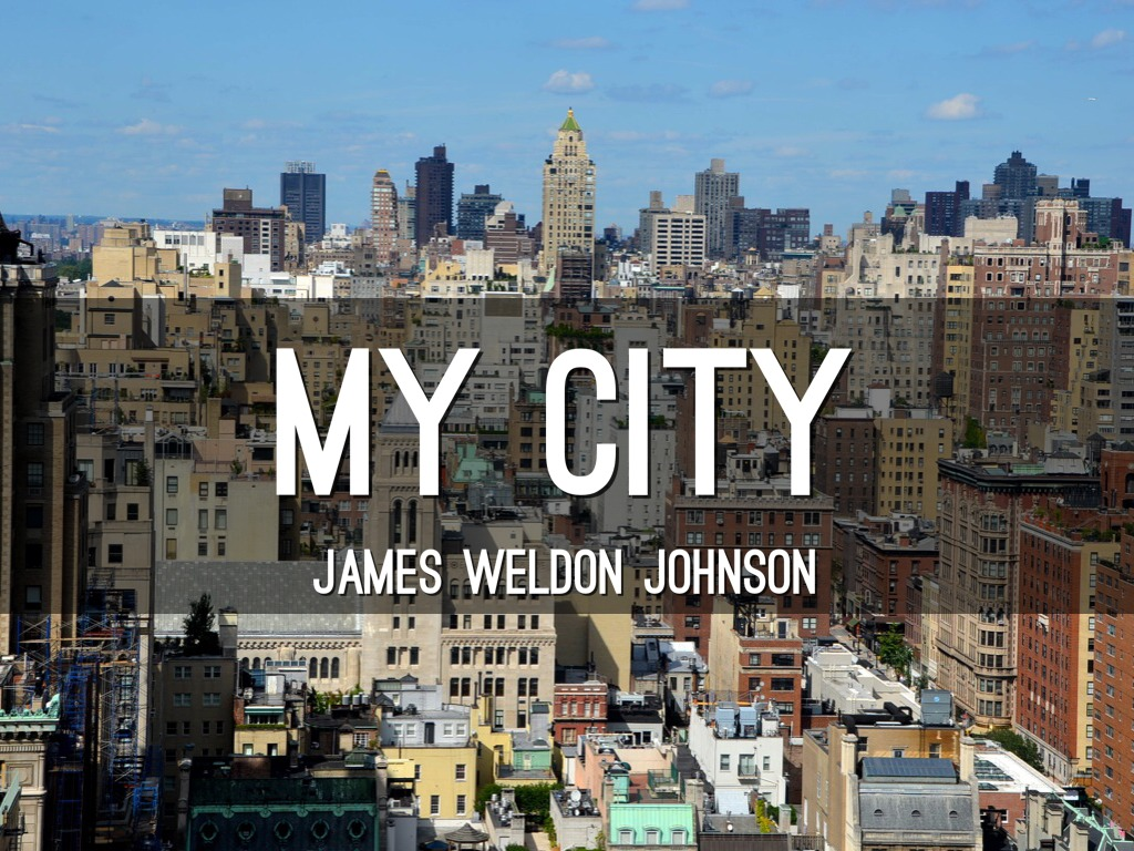 my city james weldon johnson pdf