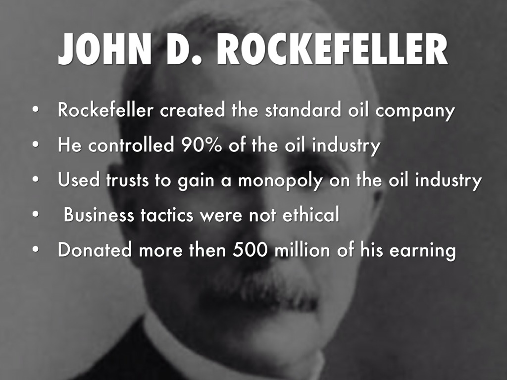 rockefeller captian of industry