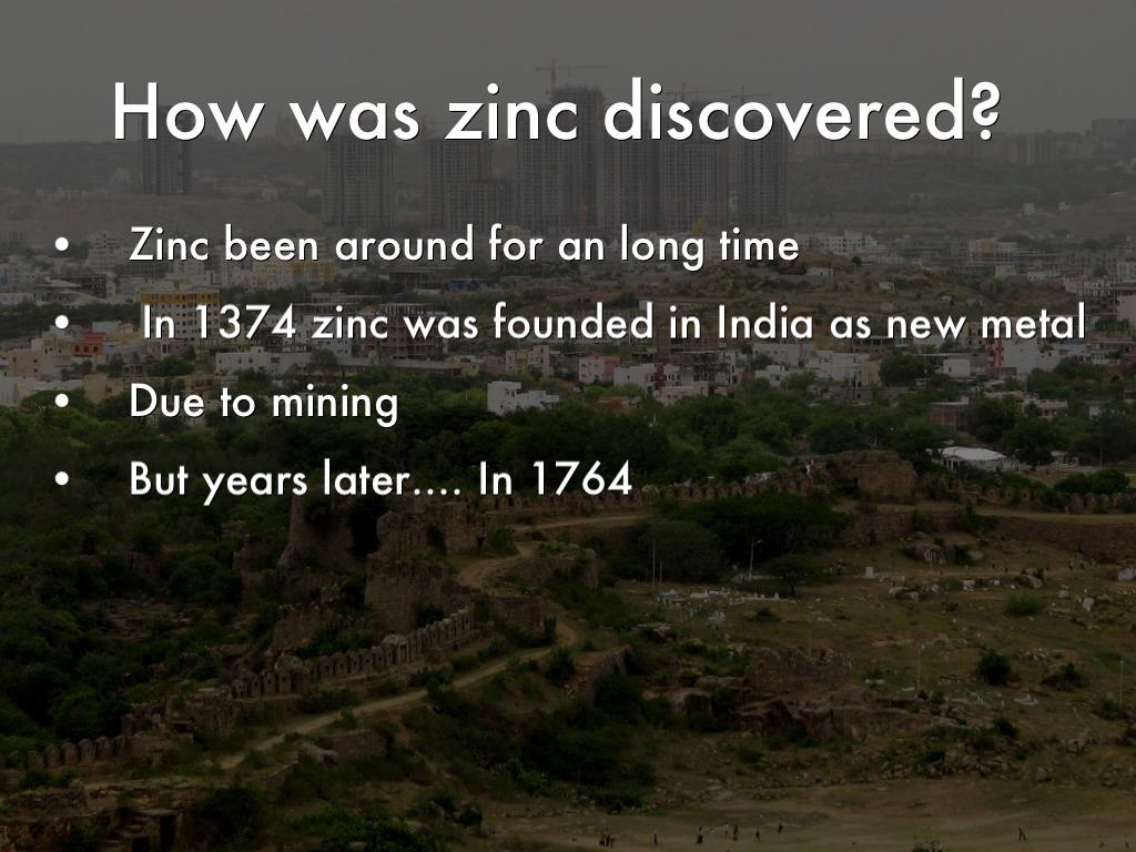 Zinc by 20160030