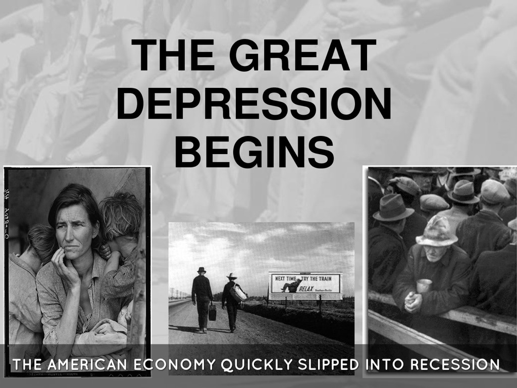 a description of the great depression to the worst economic slump ever in us history