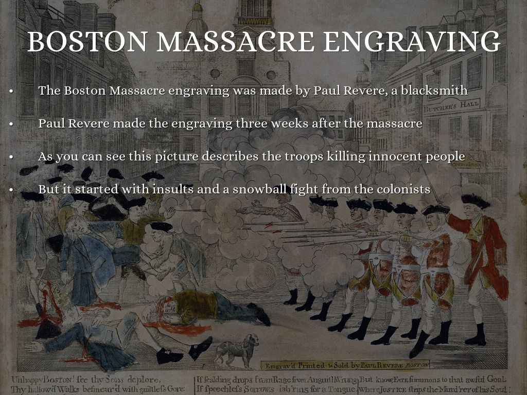 causes of the boston massacre The sugar act the stamp act the formation of the sons of liberty the townshend acts non-consumption and non-importation the boston massacre the formation of the committees of correspondence the boston tea party.