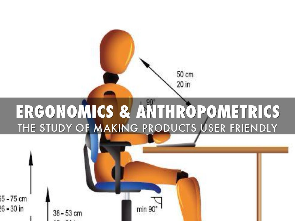 anthropometrics and ergonomics Product specification anthropometrics is the study of the sizes of people in relation to ergonomics is the relationship between people and the products which.