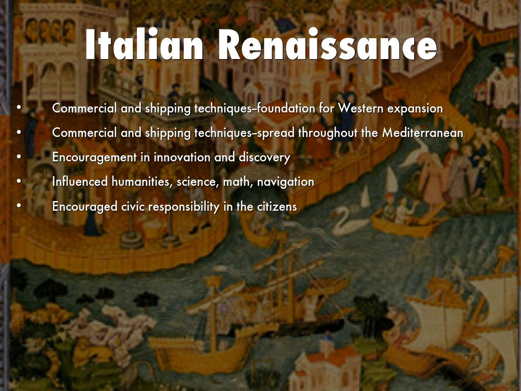 individualism in the italian renaissance and As the renaissance developed, individualism became a prominent theme in italy  many philosophers wrote about the potential of man and developed their own.