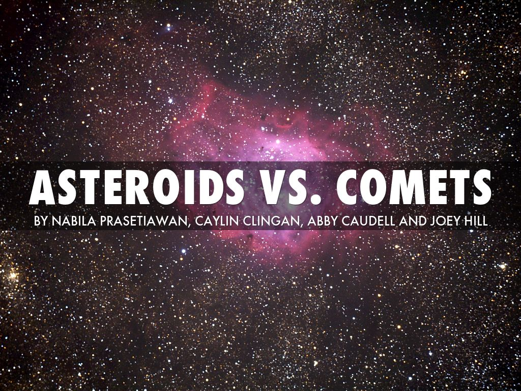 asteroids vs comets A comet is a small astronomical body covered in ice when it gets near the sun, it  shows a visible coma, which is a temporary atmosphere.