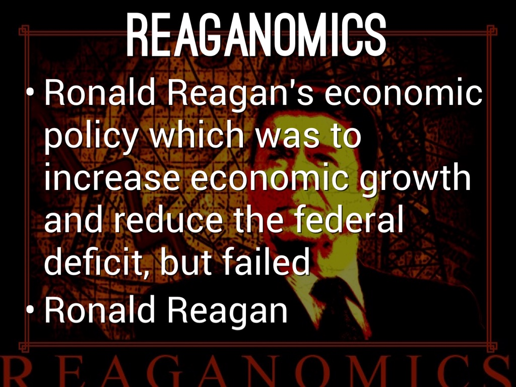 reagan economics Opinion | reagan's economic policies led to the the longest sustained period of gdp growth since the depression.