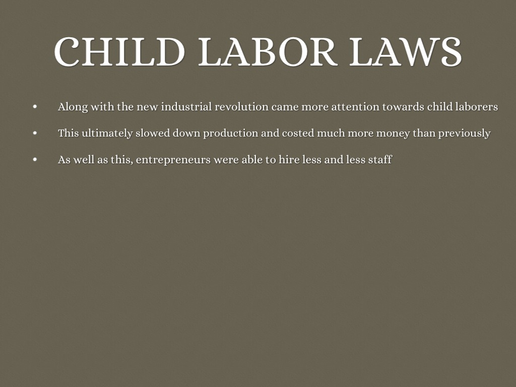 child labour industrial revolution essay An essay or child revolution about industrial labor education essays paper on child labor during industrial revolution life is different for each of us and exotic essay animals about sometimes education suffers.