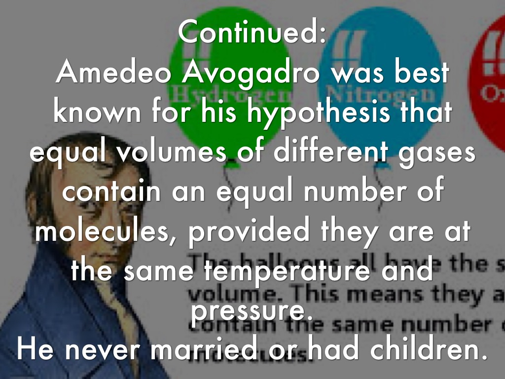 avogadros number essays Define avogadro's number: the number 6022 × 1023 indicating the number of atoms or molecules in a mole of any substance —called also avogadro number.