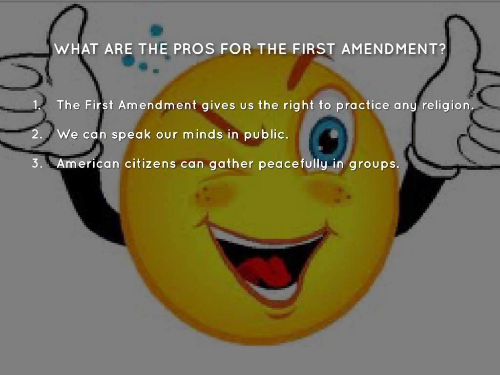an analysis of reflection on the first amendment Take two: the first amendment draw evidence from literary or informational texts to support analysis, reflection, and research big ideas.