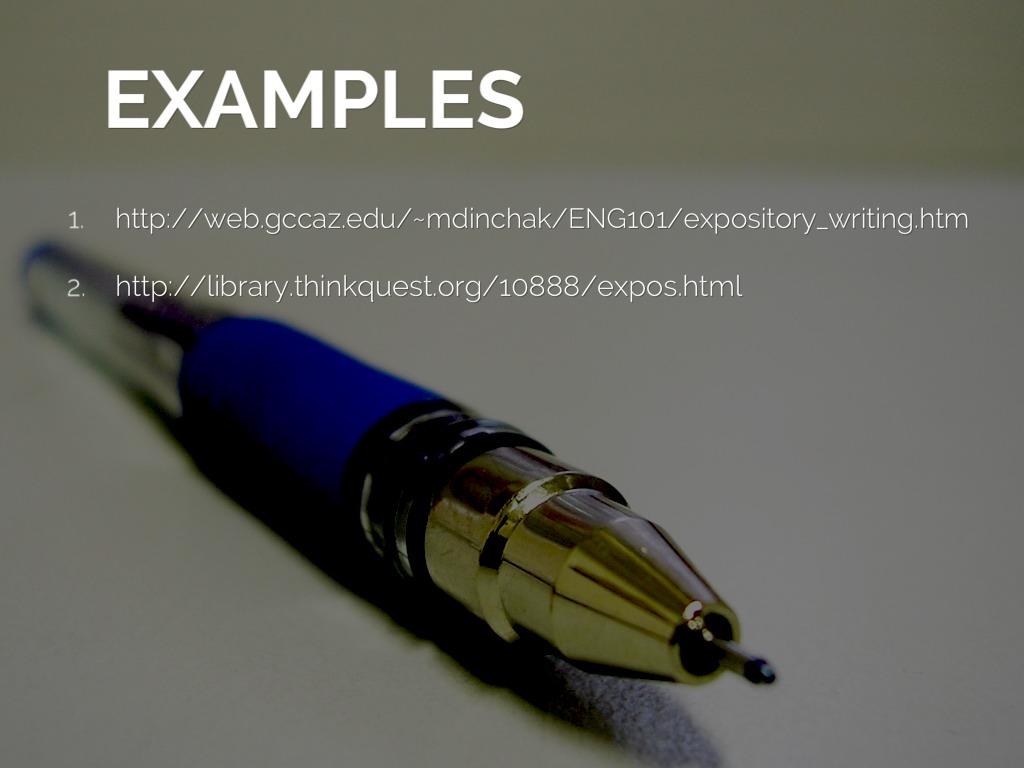 Expository Essay Sample