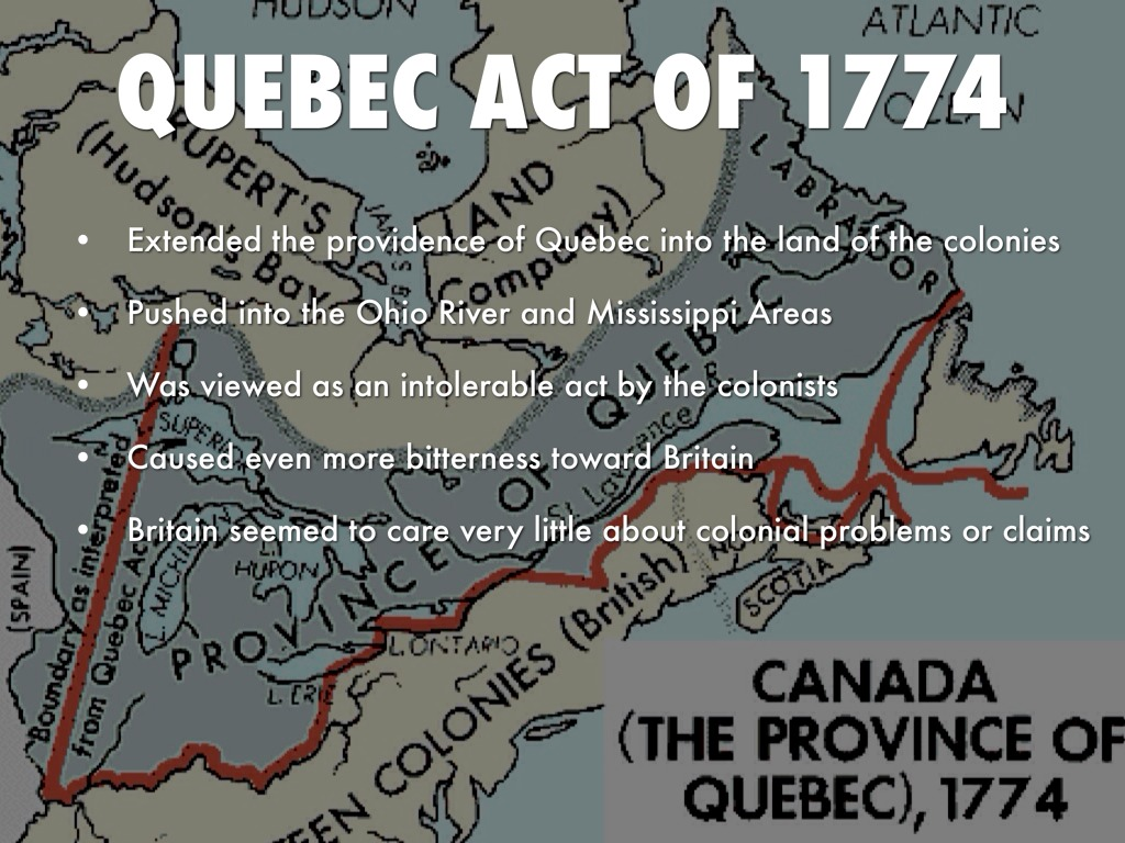 an analysis of the quebec act 1774 The tragic consequences of the quebec act of 1774 matthew ehret / may 29, 2015 by pierre beaudry, 7/4/2007 introduction in the quebec act of 1774.