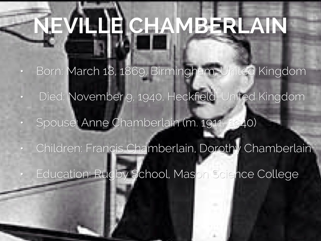 an essay on the life of neville chamberlain Hitler appeasement essay - download as word doc (doc / docx), pdf file (pdf), text file neville chamberlain and hitler's germany by andrew david stedman.