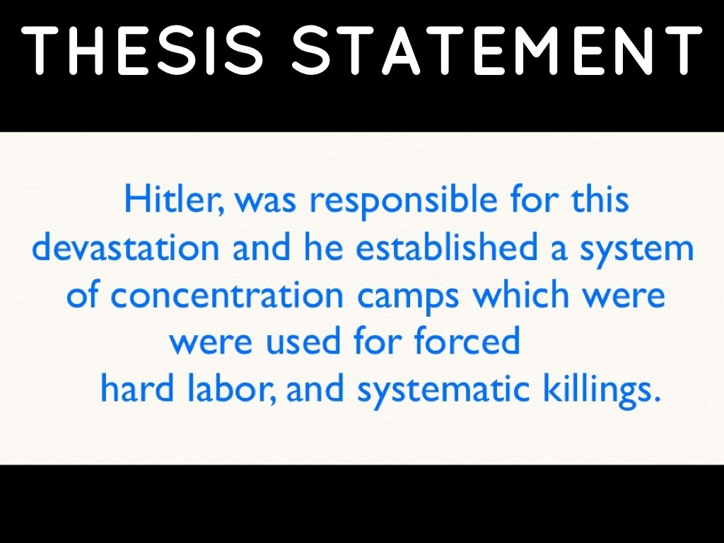 holocaust research paper thesis statement