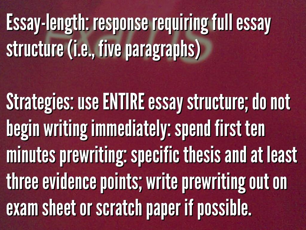 Essay exams