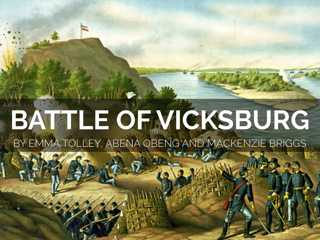 the battles of vicksburg 2005-7-7  1862 may 18 farragut arrives at vicksburg with the fleet that has taken new orleans and baton rouge, and demands the surrender of the city, but is refused.