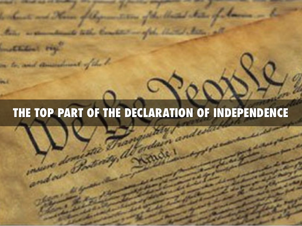 how the declaration of independence and bill The declaration of independence the want, will, and hopes of the people.