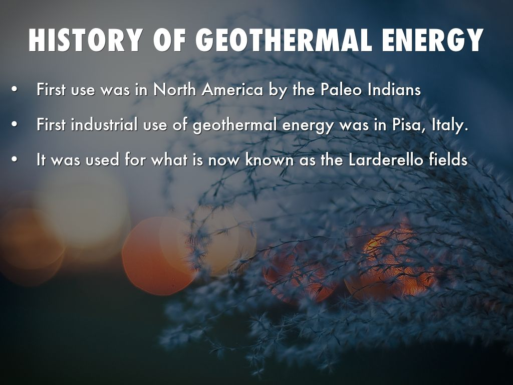 the geothermal energy as an alternative source of energy