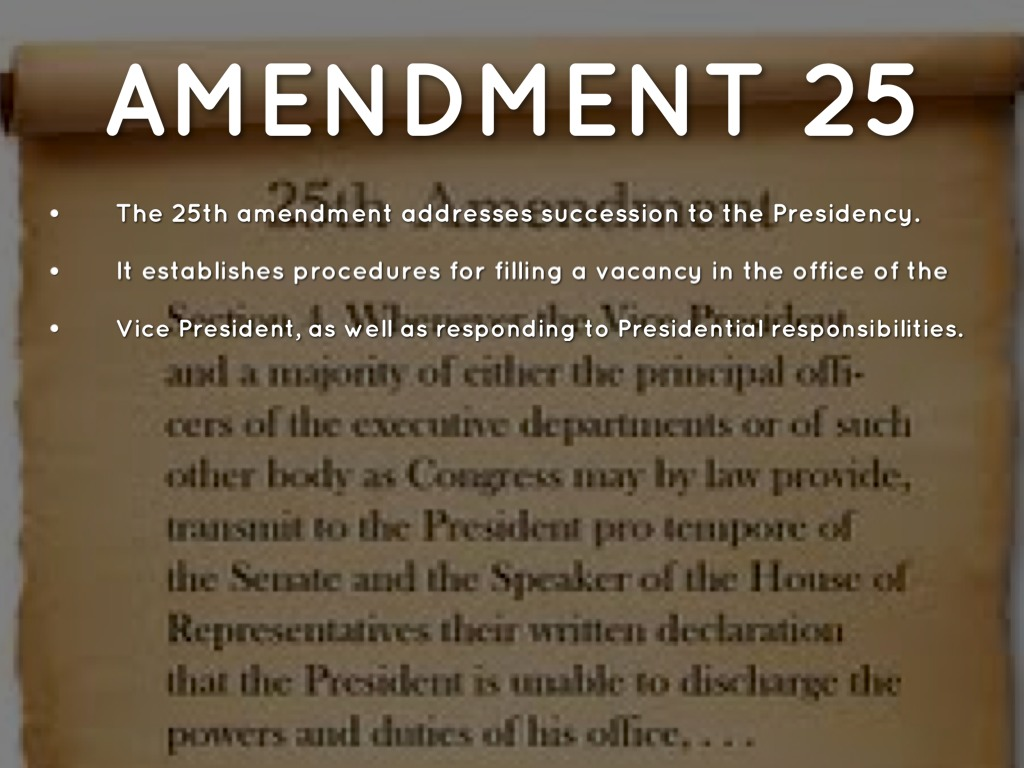 25th amendment simplified — latest news, images and photos