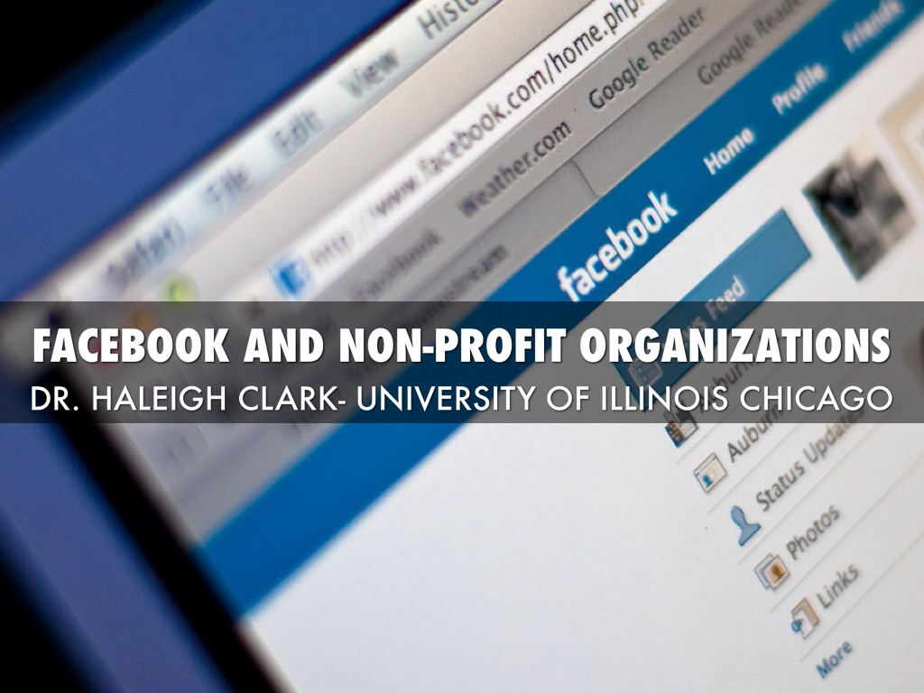 Facebook And Non-Profit Organizations