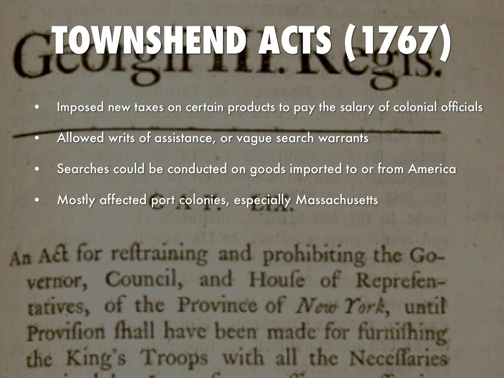 Writs Of Assistance 1767