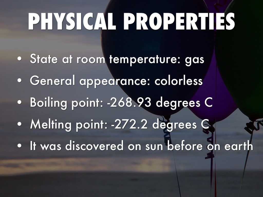 Helium: temperatures buildings