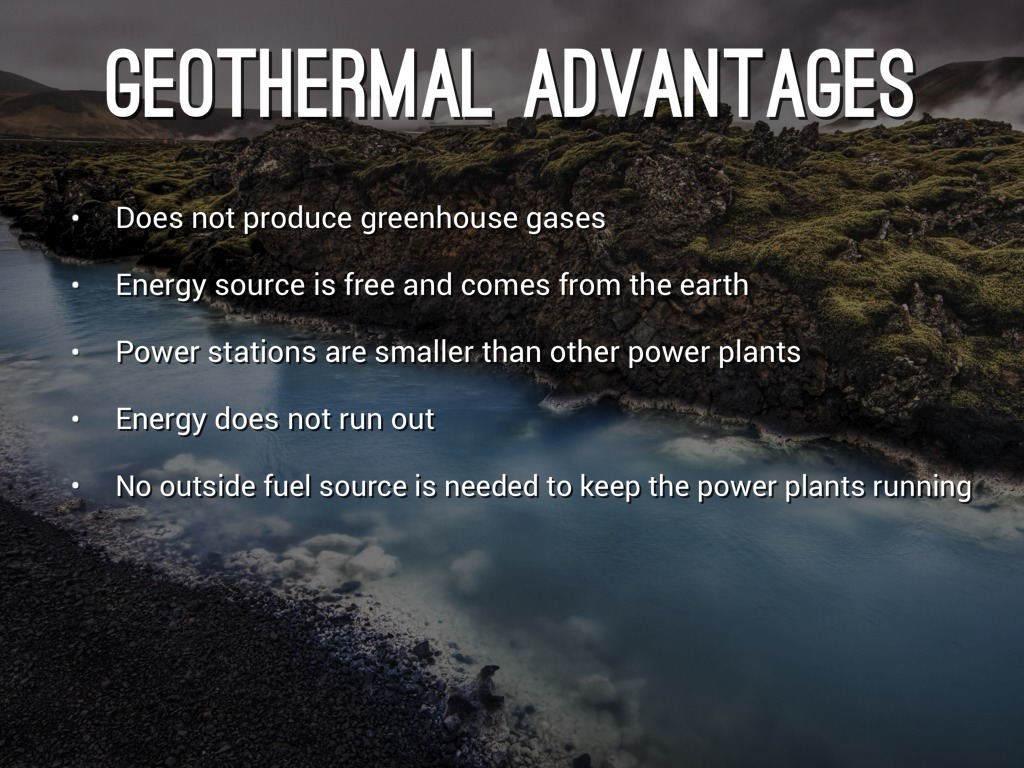 advantages of geothermal power plant