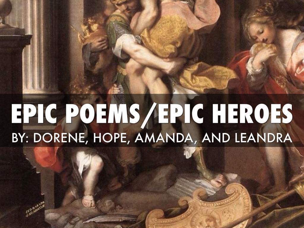 Epic hero/epic poems