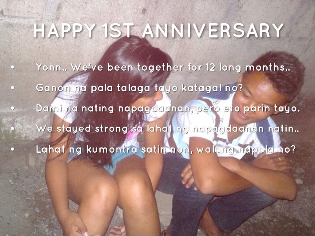 Happy st anniversary honey